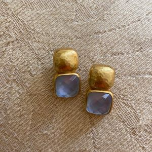 Beautiful pair of blue and gold earrings. Like new.